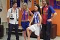 Leoš Mareš a Jakub Kohák - bodypainting FC Barcelona-Real Madrid